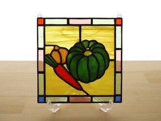 ステンドグラス ミニパネル 野菜 15cmの画像