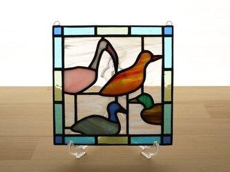 ステンドグラス ミニパネル デコイ 15cmの画像