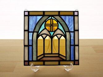 ステンドグラス ミニパネル チャペル 15cmの画像