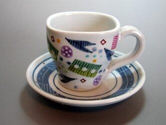 カラフルカップ&ソーサーの画像