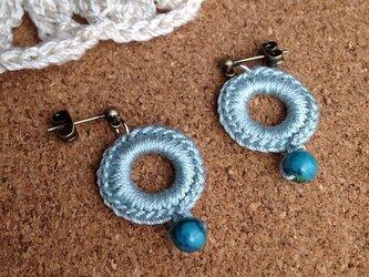 かぎ針編みのピアス~その1の画像