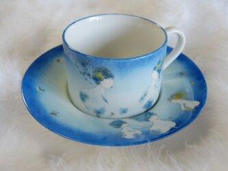 受注製作!ティーカップ(花の物語ブルー)の画像