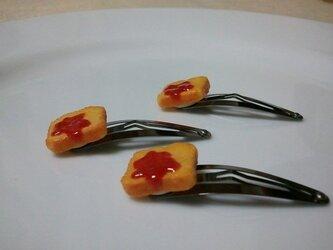 ジャムトーストのぱっちんピンの画像