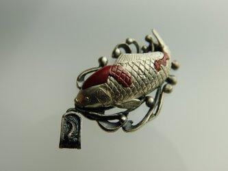 緋鯉のペンダントの画像