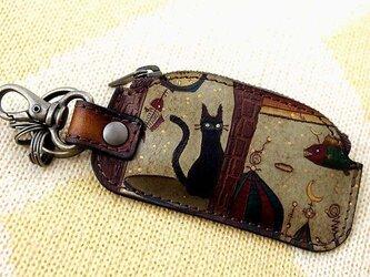 ネコキー小銭入 窓ネコの画像