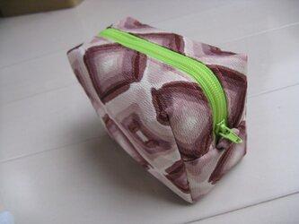和布のミニポーチ 「グラフィカル」 ピンクの画像