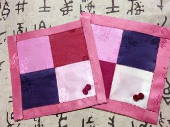 新春ポジャギ、二枚組の画像
