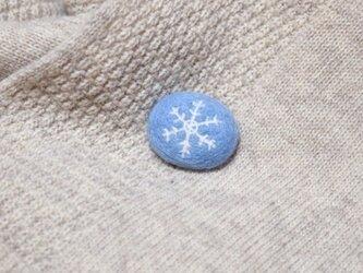 雪の結晶のブローチ*の画像