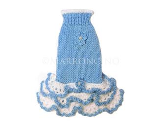 【犬のセーター】花*花フリルワンピース〔#13-229〕の画像