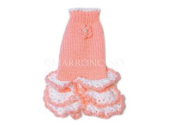 【犬のセーター】花*花フリルワンピース〔#13-233〕の画像