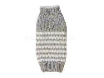 【犬のセーター】花*花ボーダーセーター〔#13-020〕の画像