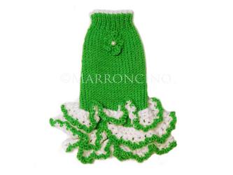 【犬のセーター】花*花フリルワンピース〔#13-244〕の画像