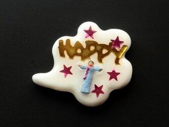 Happy people ピンブローチ #03の画像