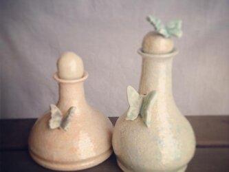 オイル&ビネガーのボトル(淡い水色)MMP-O&VSGryの画像