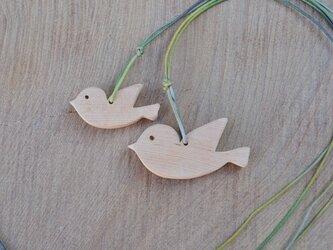 樹齢千年越♪ 小鳥の親子のペンダント♪ の画像