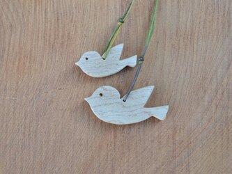 小鳥の親子のペンダント♪ 千年以上のカエデ♪の画像