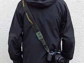 アメリカ軍迷彩カモフラージュ柄 ミリタリー カメラストラップ  コーデュラナイロンの画像