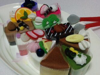 ケーキセットの画像