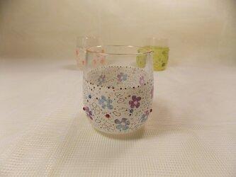 キラキラミニグラス花とドットBUの画像