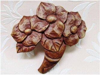 花束(木彫ブローチ)・IBー193の画像