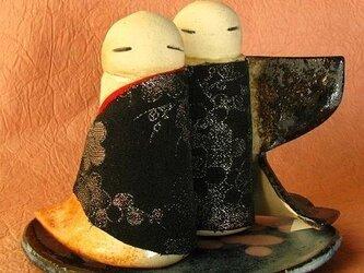 陶器のひな人形(立ち雛)8の画像