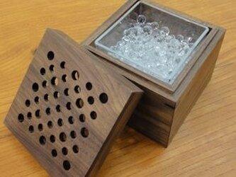 芳香剤を入れる箱 (ウォールナット)の画像
