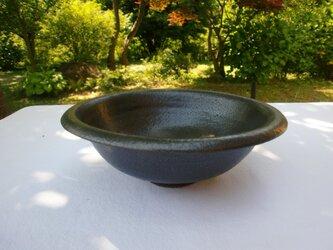 黒マット釉 丸鉢の画像