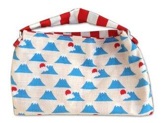 フジヤマ×紅白ストライプおめでたミニミニバッグの画像