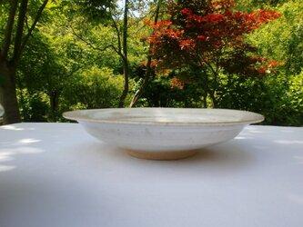 チタンマット釉 八寸丸鉢の画像