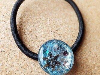 ヘアゴム*雪の結晶(水色)の画像