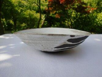 白マット釉 楕円鉢の画像