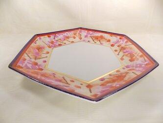 梅の6角大皿の画像