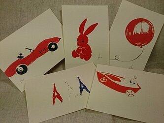 shume ポストカード「B」セット(5枚組)の画像