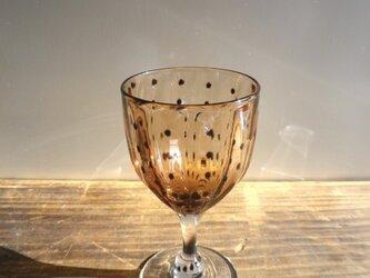豆絞り柄 酒杯 (茶)の画像