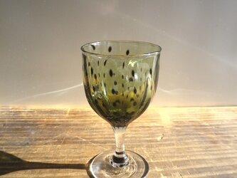豆絞り柄 酒杯 (緑)の画像