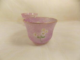 春色の冷茶グラスの画像