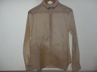 La montagne  シャツ ベージュストライプの画像