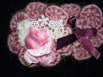 ヘアアクセ(ヘアピン)ふたつのお花の画像