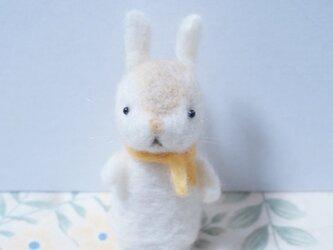 羊毛フェルト 春うさぎの画像