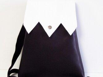 手縫い 紫富士山型ポシェットの画像