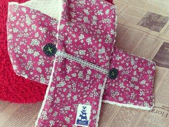 小花柄マフラー(おとな初恋ピンク)の画像