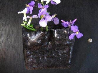 陶器 花器(9)掛け花-夏雲 陶芸家オリジナル 1点ものの画像