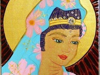 開運 癒彩 観世音    色の九十三     秋桜衣観音の画像