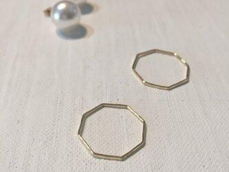 八角形の真鍮リングの画像