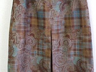 【セール品】前ボックスプリーツ入り台形スカート M~Lサイズ スエード風生地の画像