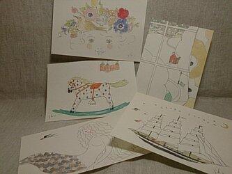 shume ポストカード「F」セット(5枚組)の画像