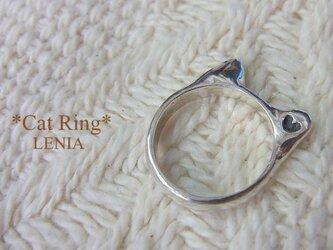 *Cat Ring*silver猫耳リングの画像