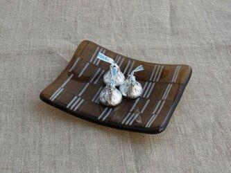 スクエアプレートS・チョコの画像