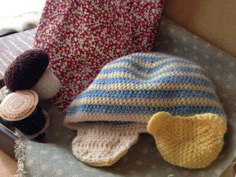 ベビー♪クマのニット帽子の画像