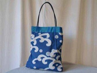 きものシャーリングバッグ(ブルー)の画像